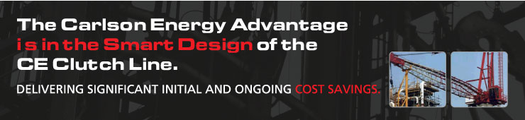 The Carlson Energy Advantage is in the Smart Design of the CE Clutch Line.